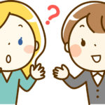 会話する日本人女性と外国人女性