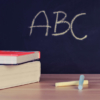 黒板のアルファベット
