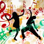 音符と踊るシルエット